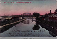Erie Canal - R. Sy. & E. Trolley Bridge, Fairport, New York [front caption] (1front) [e0288ac1]