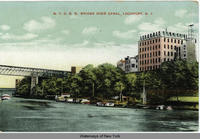 N.Y.C.R.R. BRIDGE OVER CANAL, LOCKPORT, N.Y. (1front) [e0355ac1]