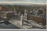 Looking West over Clinton Square, Syracuse, N.Y. [front caption] (1front) [e0374ac1]