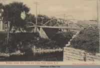 Bridges across Erie Canal and Clyde River, Lyons, New York [front caption] (1front) [e0195ac1]