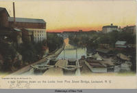 Looking down on the Locks from Pine Street Bridge, Lockport, N.Y. [front caption] (1front) [e0179ac1]