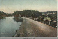 PANORAMIC VIEW OF LITTLE FALLS CANAL & RIVER, LITTLE FALLS, N.Y. [front caption] (1front) [e0417ac1]