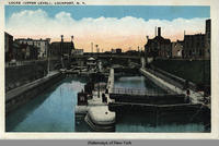 LOCKS (UPPER LEVEL), LOCKPORT, New York [front caption] (1front) [e0384ac1]