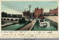 WHERE THE ERIE CANAL CROSSES THE GENESEE, ROCHESTER, New York [front caption] (1front) [e0385ac1]