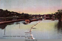 LOOKING UP THE RIVER FROM SENECA FALLS, N.Y. [front caption] (1front) [s0006ac1]
