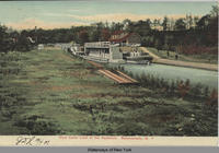 First Canal Lock at the Aqueduct.  Schenectady, N.Y. [front caption] (1front) [e0237ac1]