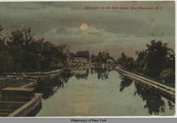 Moonlight on the Erie Canal, East Frankfort, N Y [front caption] (1front) [e0397ac1]