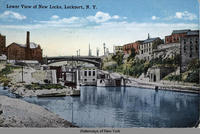 Lower View of New Locks, Lockport, N.Y. [front caption] (1front) [e0404ac1]