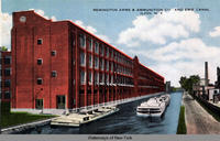 REMINGTON ARMS & AMMUNITION CO AND ERIE CANAL. ILION N Y [front caption] (1 front) [e0329ac1]
