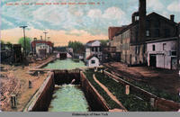 Locks No. 1and 2. looking West from Ovid Street, Seneca Falls, N.Y. [front caption] (1front) [s0014ac1]
