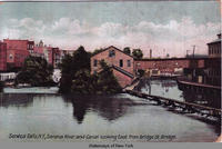 Seneca Falls, N.Y., Seneca River and Canal looking East from Bridge St. Bridge [front caption] (1front) [s0015ac1]