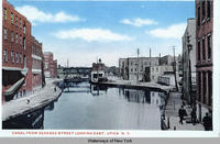 CANAL FROM GENESEE STREET LOOKING EAST, UTICA, N.Y.  [front caption] (1front) [e0369ac1]