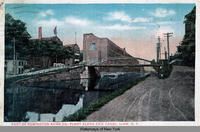 PART OF REMINGTON ARMS CO. PLANT ALONG ERIE CANAL. ILION, N.Y.  [front caption] (1 front) [e0328ac1]