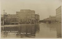 ERIE CANAL FLOODED SCHENECTADY, MAR 28 1914. [handwritten front caption] (1front) [e0343ac1]