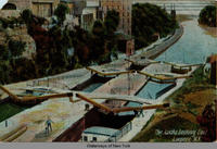 The Locks Looking East Lockport, N.Y. [front caption] (1front) [e0196ac1]