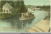 Scene on the Champlain Canal near Bemis Heights, N.Y. The Valley famous as the seat of the Battle of Saratoga in Revolutionary Days. [front caption] (1front) [c0042ac1]
