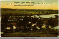 Bird's Eye View of Wilburs Basin, showing the Hudson River and Champlain Canal, Wilburs Basin, N.Y.  Famous Revolutionary Territory. [front caption] (1front) [c0051ac1]