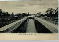 Lock on Erie Canal in the Mohawk Valley [front caption] (1front) [e0206ac1]