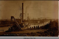 Steam Dredge, Whitehall, N.Y. [front caption] (1front) [c0017ac1]