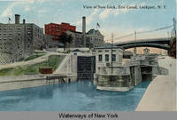 View of New Lock, Erie Canal, Lockport, New York [front caption] (1front) [e0225ac1]