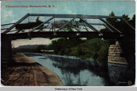 Champlain Canal, Mechanicville, New York [front caption] (1front) [c0028ac1]