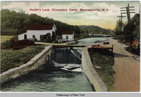 Hewitt's Lock, Champlain Canal, Mechanicville, New York [front caption] (1front) [c0027ac1]