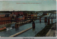 Entrance to Oswego by River and Canal, Oswego, New York [front caption] (1front) [w0003ac1]