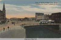 View of Widest Bridge in the World, crossing Erie Canal, Lockport N.Y. [front caption] (1front) [e0462ac1]