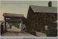 Bridge and Toll Gate at Aqueduct, near Schenectady, N.Y. [front caption] (1front) [e0477ac1]
