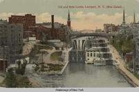 Old and New Locks, Lockport, New York (Erie Canal). [front caption] (1front) [e0483ac1]