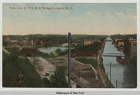 View from N.Y.C.R.R. Bridge, Lockport, N.Y. [front caption] (1front) [e0484ac1]