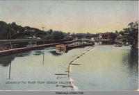 LOOKING UP THE RIVER FROM SENECA FALLS, N.Y. [ front caption] (1 front) [s0010ac1]