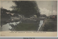 LOCK No 1 SENECA  CANAL, WATERLOO, N.Y. [front caption] (1 front) [s0025ac1]