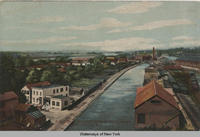 Erie Canal, Mohawk River in the Distance, Schenectady, N.Y. [front caption] (1front) [e0451ac1]