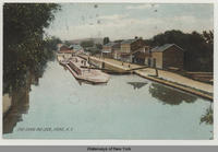 ERIE CANAL AND LOCKS, LYONS N.Y. [front caption] (1front) [e0493ac1]