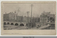Erie Canal Aqueduct Crossing Genesee River. Rochester N.Y. [front caption] (1front) [e0495ac1]