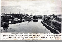 Seneca Canal, Looking East from Rumsey Street Bridge,  Seneca Falls, N.Y. [front caption] (1front) [s0018ac1]