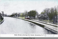 State Street, showing Erie Canal, Canastota, N.Y. [front caption] (1front) [e0435ac1]