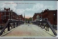 MAIN STREET, SOUTH FROM ERIE CANAL BRIDGE,  ALBION New York  [front caption] (1front) [e0425ac1]