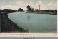 View on the Erie Canal near Brockport, New York   [front caption] (1front) [e0427ac1]
