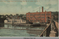 Bridge Street, showing Seneca Canal and Seneca Falls Mfg. Co., Seneca Falls, N.Y.  [front caption] (1front) [s0030ac1]
