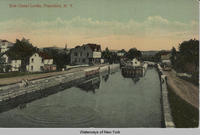 Erie Canal Locks, Frankfort, N.Y. [front caption] (1front) [e0430ac1]