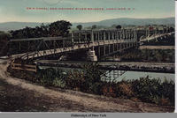 Erie Canal, and Mohawk River Bridges, Herkimer, New York   [front caption] (1front) [e0440ac1]