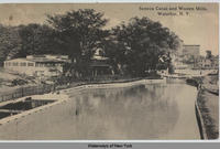 Seneca Canal and Woolen Mills, Waterloo, N.Y. [front caption] (1front) [s0027ac1]