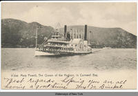 Mary Powell, The Queen of the Hudson, in Cornwall Bay [front caption] (1 front) [h0085ac1]