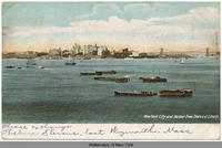 New York City and Harbor from Statue of Liberty [front caption] (1front) [h0067ac1]