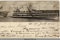 A steamship named the NEW YORK on the Hudson River (1front) [h0069ac1]