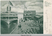"Landing of ""The Albany,"" Kingston Point, New York [h0061ac1]"