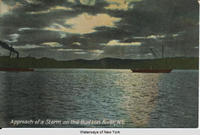 Approach of a Storm on the Hudson River, N.Y. [front caption] (1front) [h0056ac1]