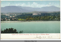 Catskill and Catskill Mountains, from East Bank of Hudson River. [front caption] (1front) [h0084ac1]